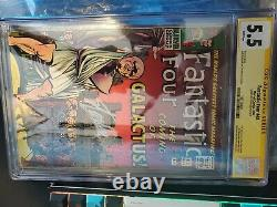 Fantastic four 48 cgc 5.5 ss Stan Lee white pages