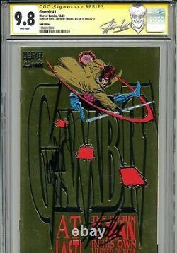 Gambit 1993 1 CGC 9.8 SS X2 Gold cover Stan Lee Claremont Rogue X-Men Wolverine