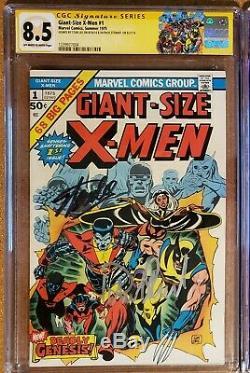 Giant Size X Men 1 CGC SS 8.5 Signed Stan Lee, Patrick Stewart