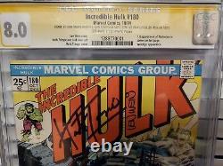 Incredible Hulk #180 CGC 8.0 Wolverine Signed Stan Lee, Wein, Trimpe, Ramita
