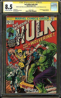 Incredible Hulk #181 CGC 8.5 VF+ SS 4x STAN LEE 1st full app WOLVERINE vs HULK