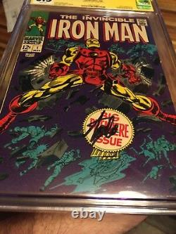 Invincible iron man 1 Cgc 6.5 Signed By Stan Lee