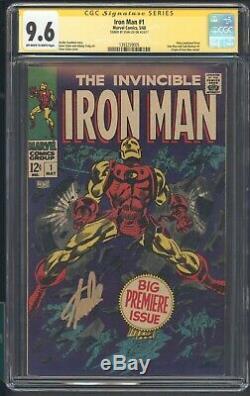 Iron Man # 1 Cgc 9.6 Ss Stan Lee Ow-w Origin Of Iron Man Retold