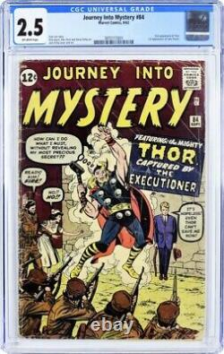 Journey Into Mystery #84 Cgc 2.5 Marvel 1962 Second Appearance Of Thor