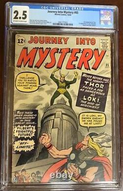 Journey Into Mystery 85 CGC 2.5. 1st appearance of Loki, Asgard and Odin. Thor