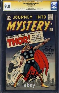 Journey into Mystery 89 CGC 9.0 ORIGIN OF THOR! SIGNED STAN LEE! NICE
