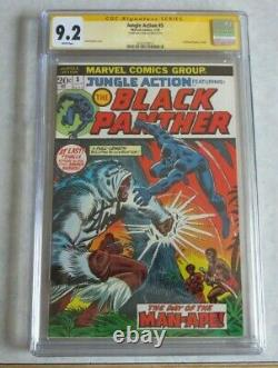 Jungle Action #5 CGC 9.2 Signed By Stan Lee 1st Black Panther Title
