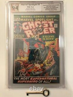 MARVEL SPOTLIGHT #5 PGX 9.4 (like CGC) Signed by Stan Lee 1st Ghost Rider! Key