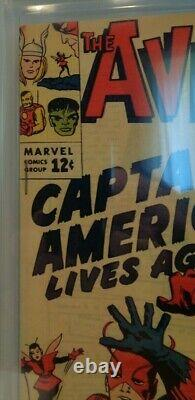 Marvel AVENGERS #4 CGC 8.0 Off White Pages First Silver Age Captain America