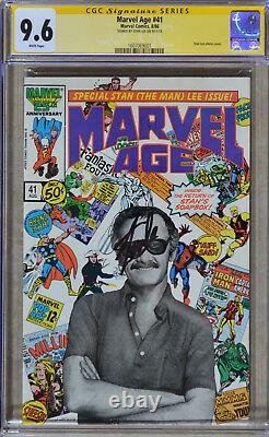 Marvel Age #41 (August 1986) CGC SS 9.6 (NM+) Photo Cover (Signed by Stan Lee)
