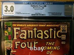 Marvel Fantastic Four #48 CGC Graded 3.0 (Stan Lee story, 1st Silver Surfer)