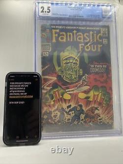 Marvel Fantastic Four #49 CGC 2.5 Key 1st Full Appearance Galactus