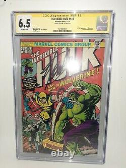 Marvel Incredible Hulk #181 Cgc 6.5 First Wolverine SS Stan Lee FREE SHIPPING