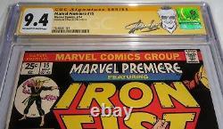 Marvel Premiere #15 CGC SS Signature Autograph STAN LEE 9.4 Origin 1st Iron Fist