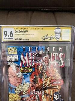 New Mutants 98 CGC 9.6 Signature Series Signed By Stan Lee and Rob Liefeld
