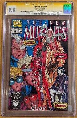 New Mutants 98 Cgc 9.8 2/91 Ss Stan Lee 1st App Deadpool Domino