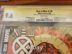 New X-Men #128 9.6 CGC NM+ 1st Fantomex 2002 Signed 2x Stan Lee & Ethan Sciver