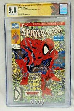 SPIDER-MAN #1 CGC 9.8 WP SS SIGNED BY 2x STAN LEE & Todd MCFARLANE SM #1 HOMAGE