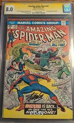 STAN LEE signed Amazing Spider-Man #141 CGC Graded 8.0 Marvel February 1975