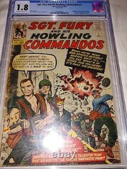 Sgt. Fury #1 -CGC 1.8- 1ST APPEARANCE OF SGT. FURY -NICK FURY