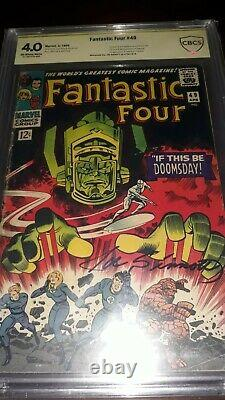 Signed FANTASTIC FOUR #49 CBCS 4.0 (not CGC)1st GALACTUS Silver Surfer cover
