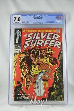 Silver Surfer #3 CGC 7.0 1st Appearance Mephisto Stan Lee 1968