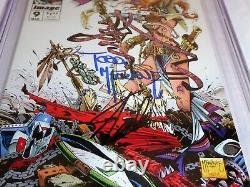 Spawn #9 CGC SS Dual Signature Autograph MCFARLANE STAN LEE 1st Medieval 9.8