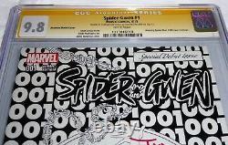 Spider-Gwen #1 CGC SS Dual Signature Autograph STAN LEE MCFARLANE Phantom VAR