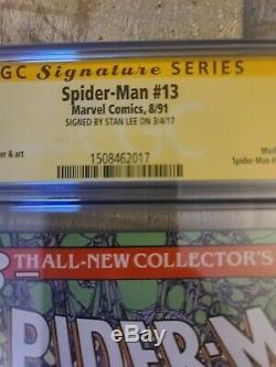 Spider-Man #13 CGC 9.6 SS Signed by Stan Lee 1990 Marvel Morbius App Issue #1