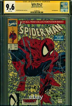 Spider-man #1 Cgc 9.6 Signed By Stan Lee! Todd Mcfarlane Art! Classic Cover