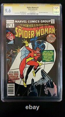 Spider-woman #1 Cgc 9.6 Ss Signed Stan Lee 1st Issue Marvel White Pages