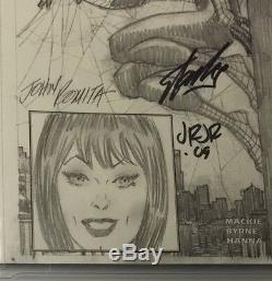 Stan Lee Signed Marvel Authentix Amazing Spider-man 1 Cgc Ss 9.8 Sketch Romita