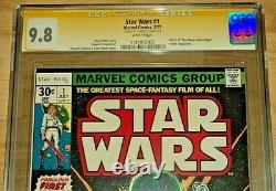 Star Wars #1 CGC SS 9.8 Signed by Stan Lee