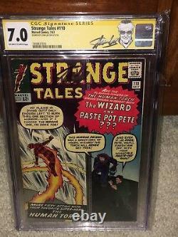 Strange Tales #110 CGC 7.0 1963 Stan Lee Signature! 1st Doctor Strange G11 H cm