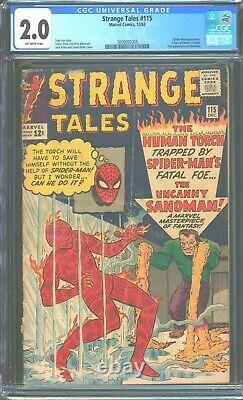 Strange Tales 115 cgc 2.0 2nd Appearance of Sandman! Sinister Six! 3809092005
