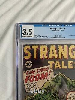 Strange Tales 89 CGC 3.5 1st Fin Fang Foom owithw pages