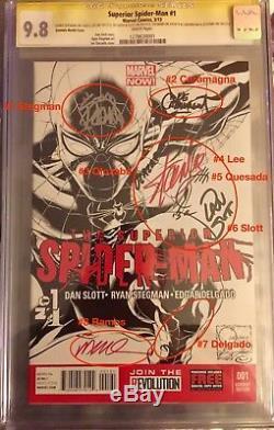 Superior Spiderman 1 Sketch Var. Cgc 9.8 8x Ss Stan Lee Quesada Slott Stegman