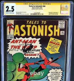 TALES to ASTONISH #44 SIGNED by STAN LEE! CGC 2.5 SS 1ST APP of the WASP