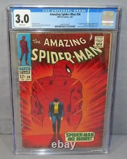 THE AMAZING SPIDER-MAN #50 (Kingpin 1st appearance) CGC 3.0 GD/VG Marvel 1967