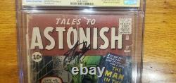 Tales To Astonish #27 1st Ant-man 01/62 Cgc 1.5 Ss Signature Series Stan Lee