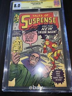 Tales of Suspense 48 cgc ss 8.0 Stan Lee 1st Red/Yellow Armor & Mister Doll 1963