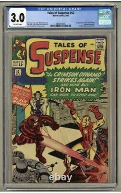 Tales of Suspense 52 (CGC 3.0) 1st App. Black Widow. BEAUTIFUL COLOR On Cover