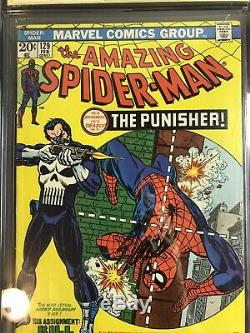The Amazing Spider-Man #129 (Feb 1974, Marvel) Cgc 4.5 SS Stan Lee 1st Punisher