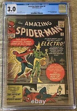The Amazing Spider-Man #9 (Feb 1964, Marvel Comics) CGC 3.0 GD/VG 1st Electro