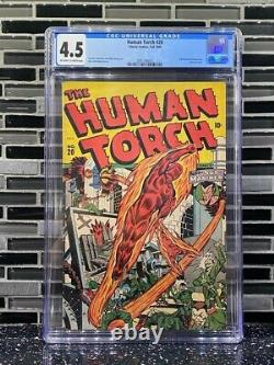 The Human Torch #20 CGC4.5 Golden Age Comic, 1945. Alex Schomburg Cover. Stan lee
