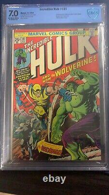 The Incredible Hulk #181 1st App Of Wolverine CBCS 7.0 (not CGC)