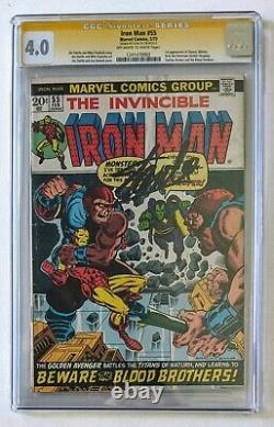 The Invincible Iron man #55 Marvel Comics 1973 Graded CGC 4.0 Signed Stan Lee