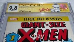 True Believers Giant-Size X-Men #1 CGC SS 9.8 Signature STAN LEE WEIN Reprint
