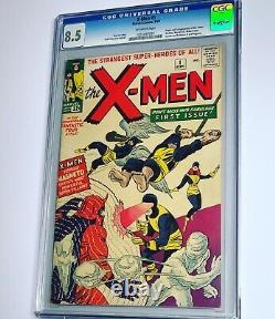 Uncanny X-men 1 CGC 8.5 VF+ Marvel 1963 Silver Age Key High Grade Grail