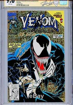 Venom Lethal Protector 1 CGC 9.6 SS x4 Gold cover Stan Lee McFarlane Spider-Man